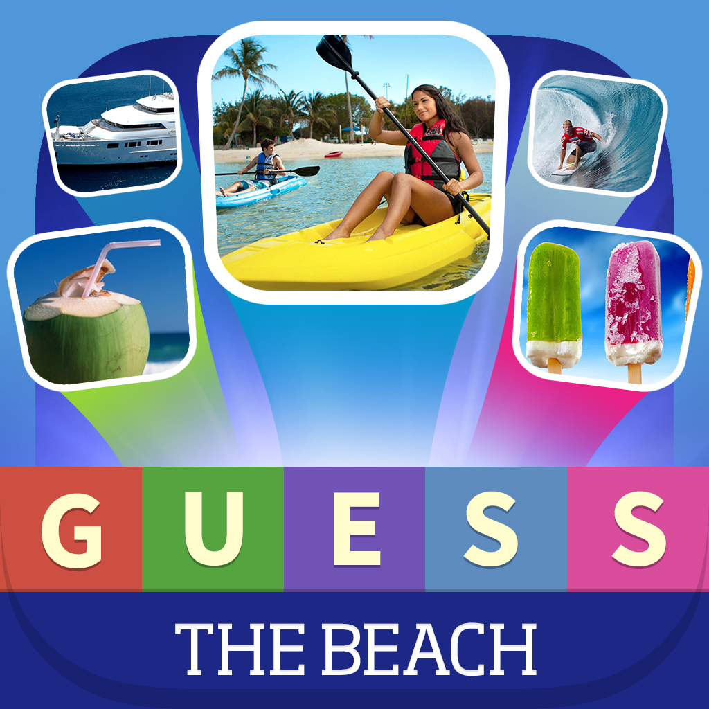 Guess what? Beach Quiz - Learn words with Kids Everything you see on the beach: Sunglasses, Starfish, Shell And More